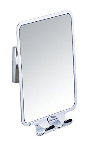 (WENKO Vacuum-Loc Quadro Anti-Fog Shower Mirror with 2 Hooks)