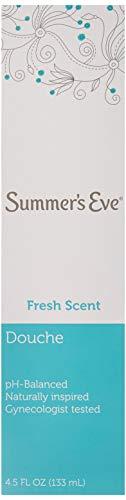 (Pack of 6 Bottles) Summer's Eve Fresh Scent Douche Vinegar & Water, Feminine Wash, 4.5oz Bottles. PH Balanced, Naturally Inspired, Gynecologist Tested (Pack of 6 Bottles, 4.5oz Each Bottle)