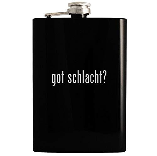 got schlacht? - 8oz Hip Drinking Alcohol Flask, Black