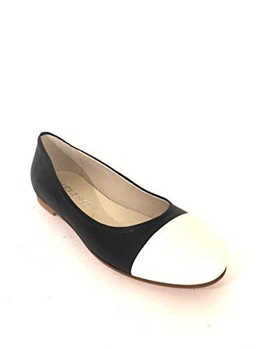 Pelle Italy Mainapps Bicolore In Zeta Ballerine Dd82 Made Nero Shoes 5FwgcWIq4