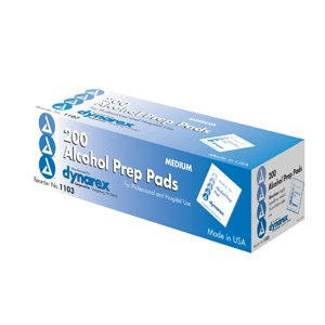 ALCOHOL PREP PAD MED 1103 DYN Pack of 200 by DYNAREX CORP. *** (Dynarex Corp)