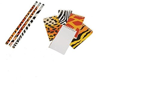 - 5Star-TD Wild Animal/Safari Theme Party Favor Set / 12 Memo Pads /12 Pencils