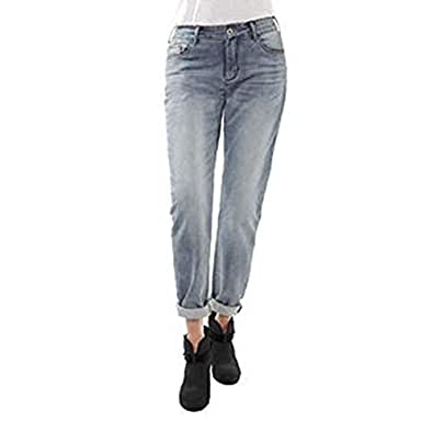 Buffalo David Bitton Ladies' Boyfriend Style Knit Jean-Bleach Blasted (4x27) Blue