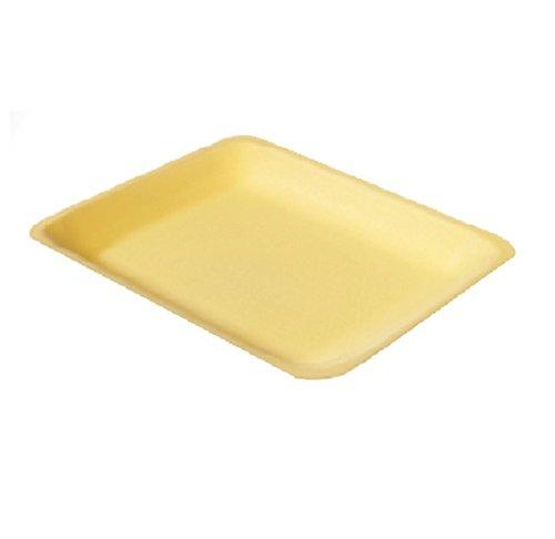 Yellow Foam Meat Tray - CKF 4PY, 4P Yellow Foam Meat Trays, Disposable Standart Supermarket Meat Poultry Frozen Food Trays, 100-Piece Bundle