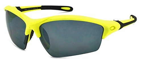 Edge I-Wear Men's Half Rim Sports Sunglasses with Flash Mirror Lens - Wear A Sunglasses To Eyes I Protect