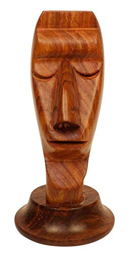 NewYork Gift Trader Wooden Shaped Spectacle Holder, Eyeglass Face-Shaped Holder, Specs Stand, Sunglasses Holder, Wooden Eyeglass Stand for Men-Women-Kids for Office ()