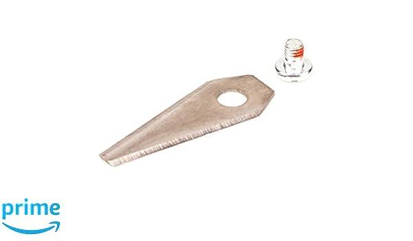 9 de repuesto de calidad Cuchillas 2 abrillantadora (Reversible Para Bosch INDEGO Robot cortacésped Incluye 9 anodizado Tornillos (Cruz + ranura): ...
