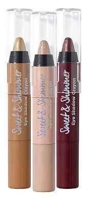 Sweet & Shimmer Eyeshadow Crayon Trio, Neutrals with Shimmer