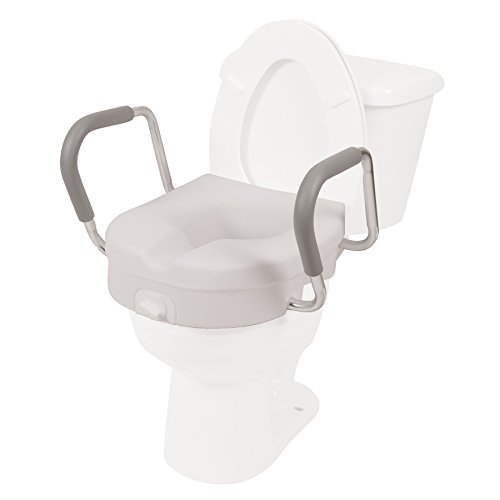 Pcp Molded Toilet Seat Riser Lift With Detachable Arms