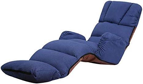 ソファ・カウチ オフィスリビングルームのための調節可能な背もたれで床折りたたみゲームソファ椅子 リビングルーム家具 (Color : Green, Size : 205x56x20cm)