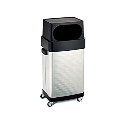 Charmant 17 Gallon Stainless Steel Rolling Trash Can