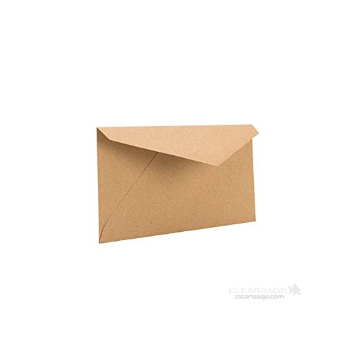 Brown Bag Envelopes by ClearBags | Rustic Theme for Invitations/Announcements for Wedding, Showers, Graduation | Heavy 70 Pound Paper | 50 Envelopes (Monarch | 7 1/2
