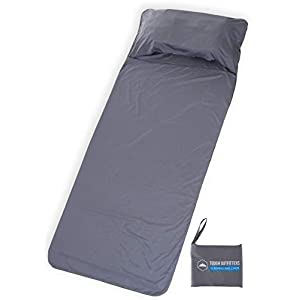 Tough Outdoors XL Sleeping Bag Liner - Travel & Camping Sheet - Lightweight Adult Sleep Sack - Ideal for Traveling, Hostels, Camping & Backpacking