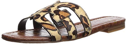 (Sam Edelman Women's Bay Slide Sandal New Nude Leopard 8.5 M US)