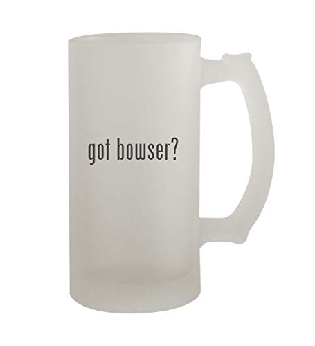 got bowser? - 16oz Sturdy Glass Frosted Beer