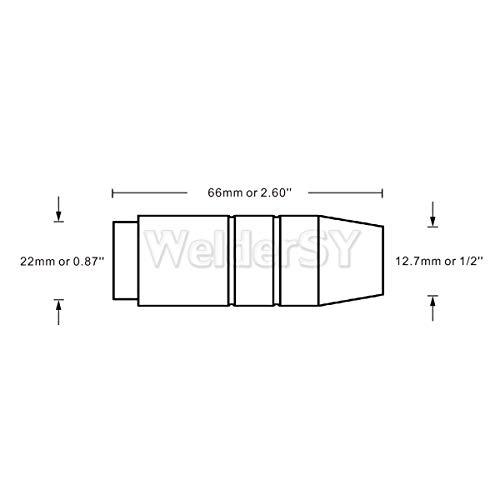 MIG Welding 1/2'' (13mm) Gas Nozzles 4392 for Bernard 200-300 MIG Welding Guns PK/5 by For Bernard Torch (Image #3)
