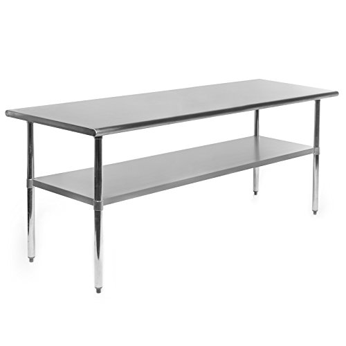 Gridmann NSF Stainless Steel Commercial Kitchen Prep & Work Table - 60 in. x 30 in. by Gridmann