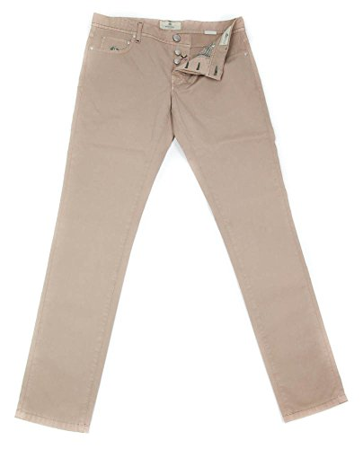 new-luigi-borrelli-light-brown-solid-pants-super-slim-36-52