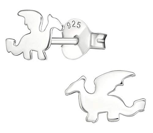 - Hypoallergenic Sterling Silver Dragon Very Tiny Stud Earrings (Nickel Free)