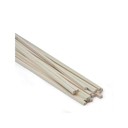 Midwest Products 4066 Micro-Cut Quality Basswood Strip Bundle, 0.25 x 0.25 x 24 Inch
