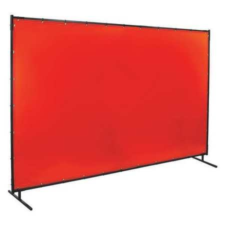 Welding Screen, 10 ft. W, 6 ft., Orange