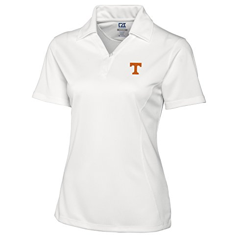 Cutter & Buck NCAA Tennessee Volunteers Women's Genre Polo Shirt, Small, White -