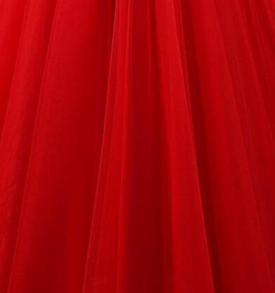 Botong Une Ligne Robes De Demoiselle D'honneur De Tulle V-cou Au Large De La Robe De Soirée Bal Épaule Ivoire