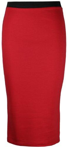 Travail Uni Neuf Femme Longueur Hanger Jupe Rouge Long Mi Purple Fourreau Bureau Moulante Iw8Bcq