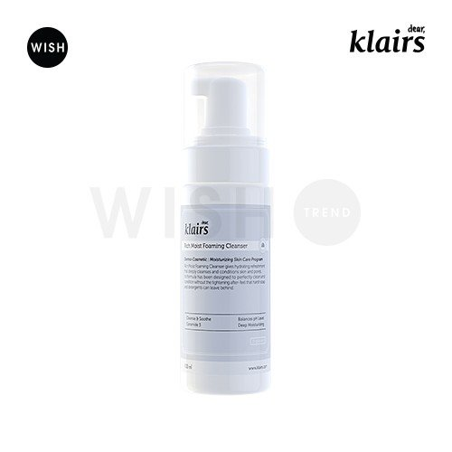(KLAIRS] Rich Moist Foaming Cleanser, facial cleanser, foam cleanser, 100ml, 3.38oz)