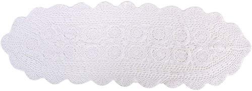 Laivigo Handmade Crochet Lace Table Cloth Doilies Doily,Rectangle,16 x 59 Inch,White