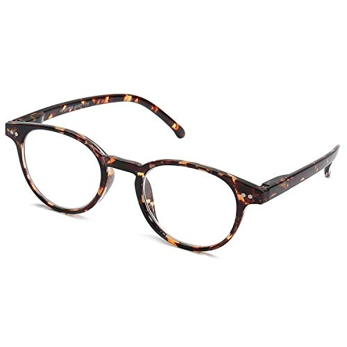 Computer Gaming Glasses Blue Light Blocking Reflection, Anti-Glare and UV Prevent Headaches, Sleep Better, Reduce Eye Fatigue,HD Lens-Vintage Round Rim Spring Hinge Frame ()