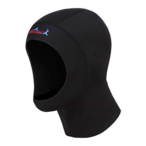 Mincy 1 MM Neoprene Hood Diving Cap Scuba Snorkeling Wetsuit, Warm Insulation Sunscreen Swimming Hood Surf Divers Hat for Men Women (S/19.7-21.2 inch)