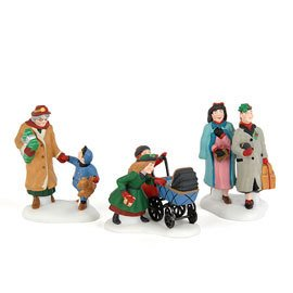Dept 56 Heritage Village Collection Let's Go Shopping in the City Set of 3 by Department 56