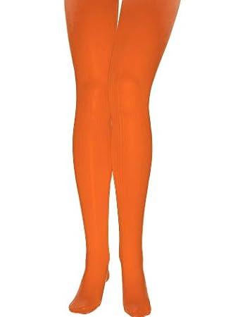 ab642365ce90b2 KULTFAKTOR GmbH Strumpfhose Blickdicht 60 DEN orange M / L: Amazon ...