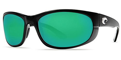 Costa Del Mar Howler 580P Howler, Black Green Mirror, Green ()