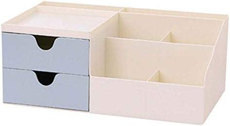 Büro Kunststoff Desktop Aufbewahrungsbox Schubladen Organizer, Blau 02