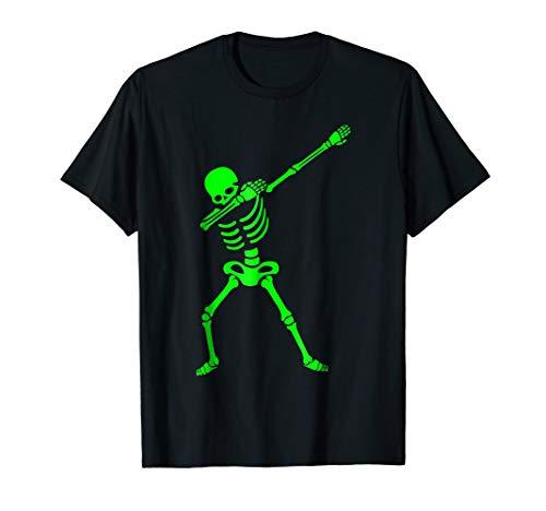 Mens Dabbing Skeleton Shirt - Halloween T-Shirt Human Skeleton 2XL Black -