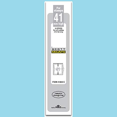 Scott or Prinz 41x215 Clear Stamp Mounts Scott # - Clear Mounts Stamp