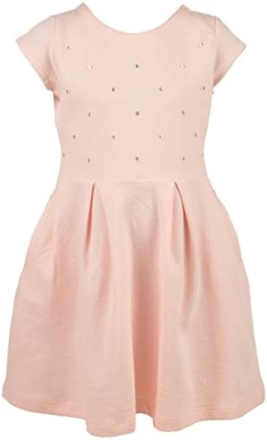 Carters Little Girls Toddler Embroidered Dots Dress-pink