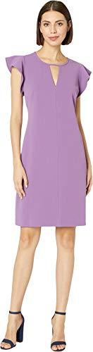 - VINCE CAMUTO Womens Flutter Sleeve Crepe Ponte Keyhole Dress Tulip XL