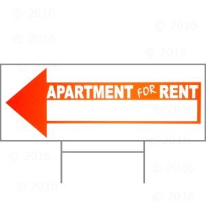 9 x 24 apartment for rent arrow sign w h stake industrial scientific. Black Bedroom Furniture Sets. Home Design Ideas
