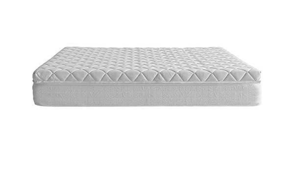 Royal Beds Box Spring Plus Colchón + Topper, Tela, Blanco, Matrimonial, 180x100x10 cm: Amazon.es: Hogar