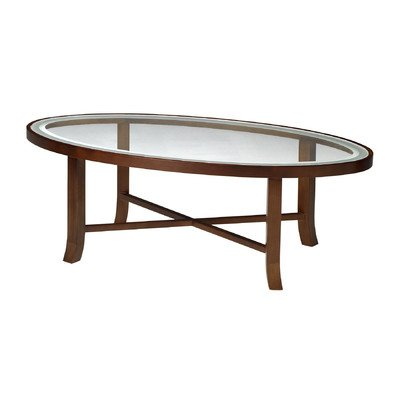Mayline M106CSCR Illusion Oval Glass Top Coffee Table 48