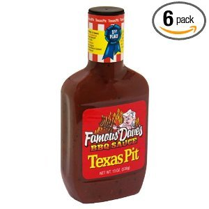 Famous BBQ Sauce Texas Pit 19 OZ (Pack of 24) (Famous Daves Texas Pit)