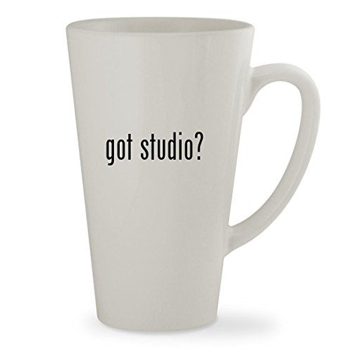got studio? - 17oz White Sturdy Ceramic Latte Cup Mug