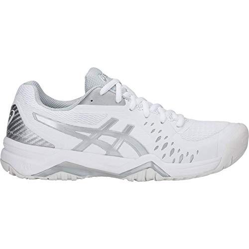 ASICS Gel-Challenger 12 Womens Tennis Shoes, White/Silver, Size 8 (Challenger Gel Asics)