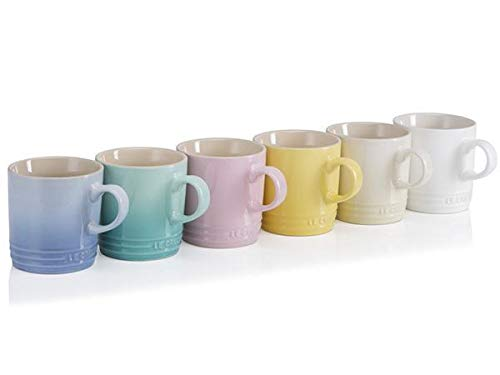 Collection Sorbet (Le Creuset of America PG2018SRB-12MC Sorbet Collection Coffee Mugs (Set of 6), 11.8