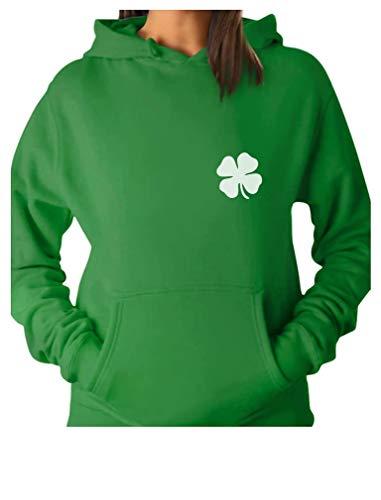 TeeStars - Irish Shamrock Pocket Size Clover St. Patrick's Day Women Hoodie Small Green -