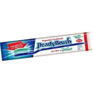 ReadyBrush Prepasted Reusable Toothbrush- 30 Pack- Made in the USA by Readybrush