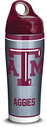 Tervis 1316289 Texas A&M Aggies Tradition Stainless Steel Insulated Tumbler with Lid, 24oz Water Bottle, Silver (Bottle M Aggies)